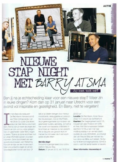 Kek Mama Nieuwe Stap Night met Barry Atsma