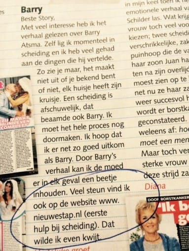 artikel over Barry Atsma in Story