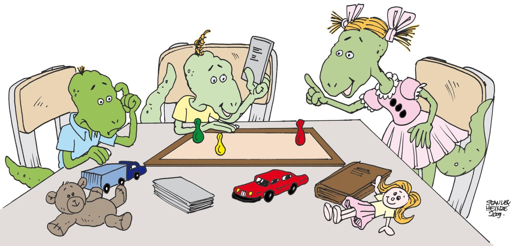Dappere Dino's, kind van gescheiden ouders