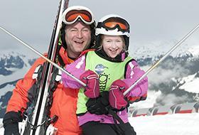 alleen met de kinderen skien