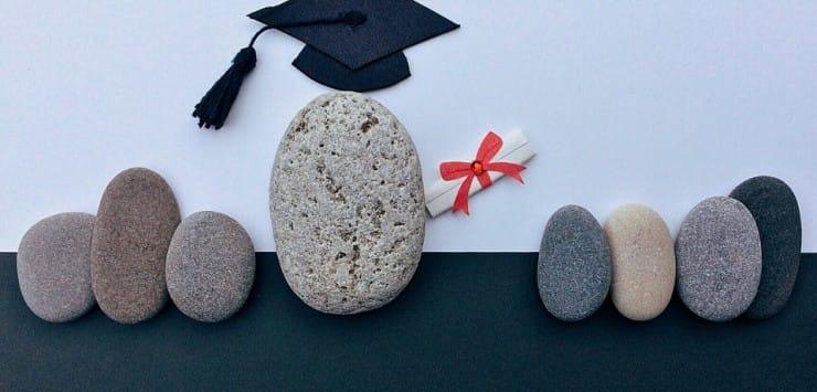 gescheiden diploma-uitreiking