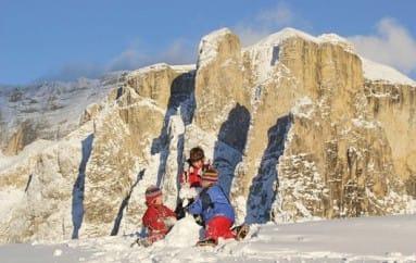 eenoudervakantie in de sneeuw