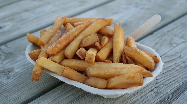 ex samen friet eten