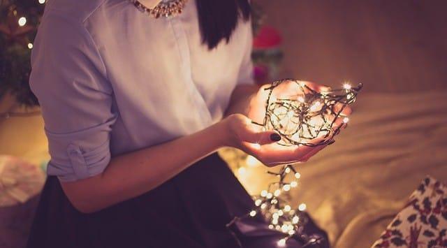 alleen onder de kerstboom